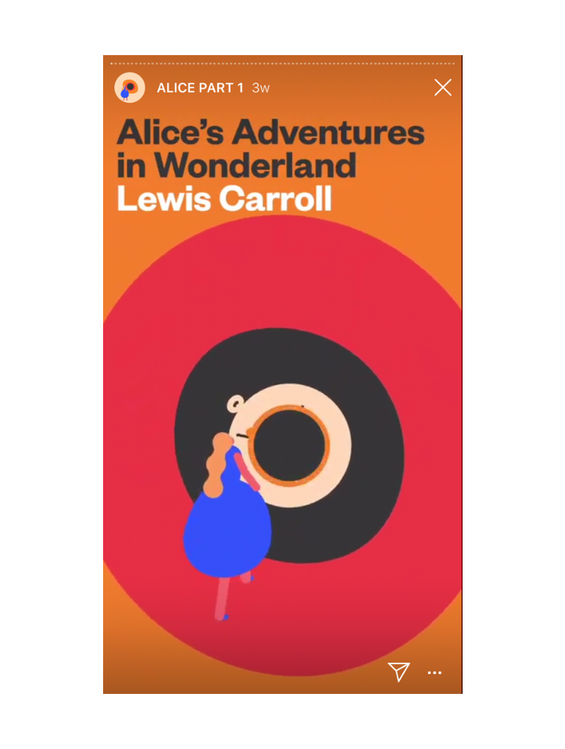 Insta Novel Alice in Wonderland