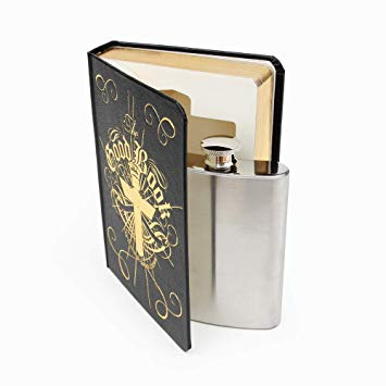 Good Book hip flask